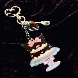 KUROMI Layer Cake Keychain with Cake & Fork Charms